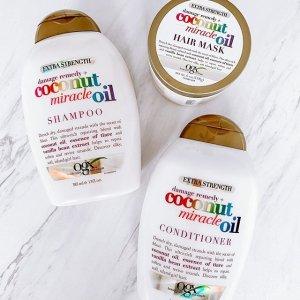 $6.97(原价$8.47)Ogx 超火小众洗护品牌 收椰香洗发水 椰香发膜 椰奶味十足