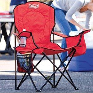 Coleman 超大尺寸户外折叠椅,带饮料冰袋 三色可选