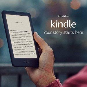 Amazon新增可调节屏幕照明全新Kindle电纸书黑色款