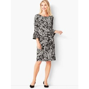 TalbotsCrepe Shift Dress - Paisley