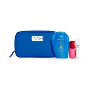 Shiseido蓝胖子防晒套装(价值$95)