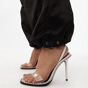 低至3折 透明铆钉高跟鞋再降价最后一天:Alexander Wang 美鞋酷girl必备 最后的机会