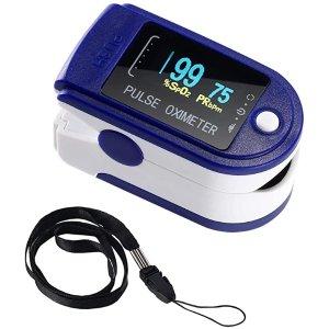 指尖版脉搏血氧检测仪 紫色
