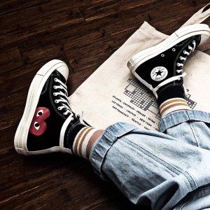 COMME DES GARCONS PLAY联名帆布鞋