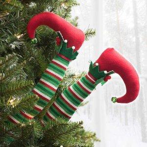 get it now! Green Stripe Elf Legs, Set of 2