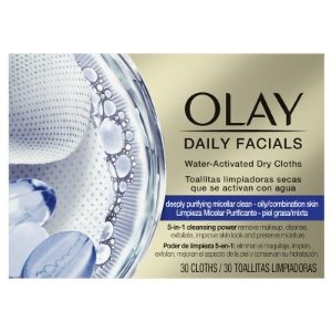 Olay卸妆、洁面一步搞定!非常便携泡泡卸妆巾