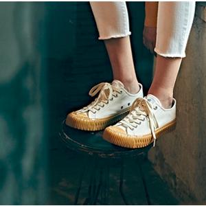 EXCELSIOR 米白焦糖底帆布鞋