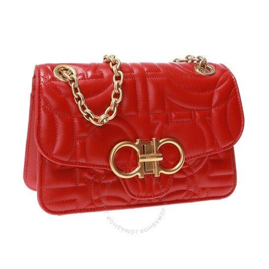 Ladies红色链条包
