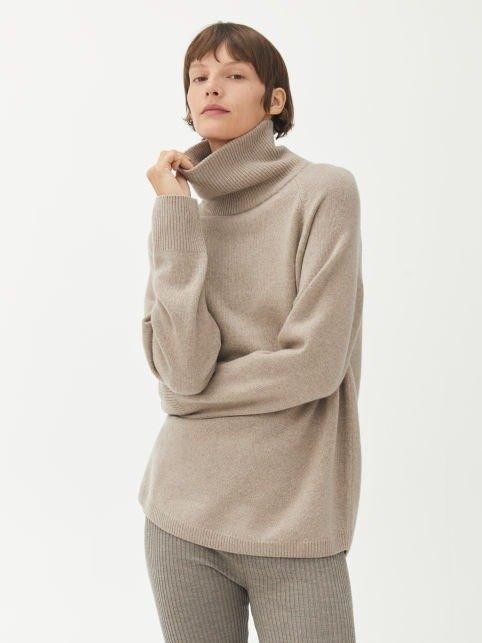 休闲立领毛衣