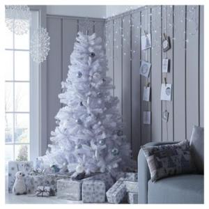 43折 现价£18.99 原价£39.99白色圣诞树 超有节日氛围