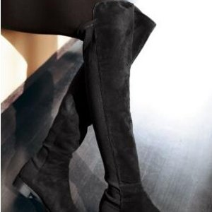 低至$283.33Stuart Weitzman 5050麂皮过膝靴 大码福利