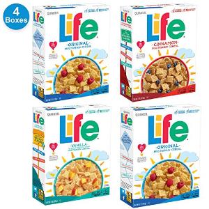 $8.08 最棒的早餐主食Quaker Life 谷物早餐4盒装 不同口味