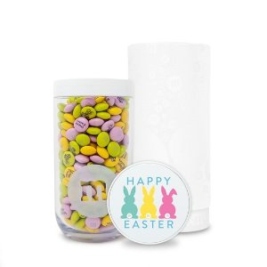 Personalizable M&M'S Happy Easter Gift Jar in White Gift Tube | M&M'S - mms.com