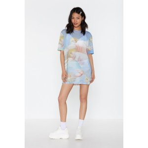Heaven is a Place on Earth Cherub Mesh Tee Dress | Shop Clothes at Nasty Gal!