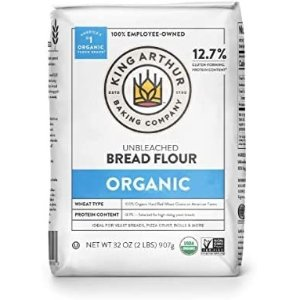 King Arthur 100% Organic Unbleached Bread Flour 2 Pounds (Pack of 12)
