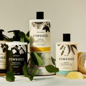 5折起+£10收全明星沐浴套装Cowshed 英国香薰专家热促 独享水疗式精油护肤