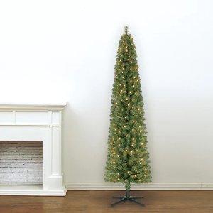 Ashland 7英尺高带灯圣诞树