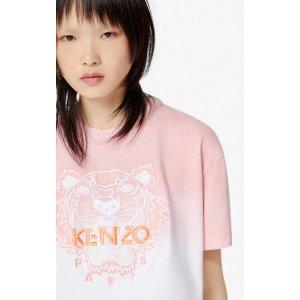 Kenzo渐变粉T恤