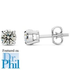 SuperJeweler1/2ct Diamond Studs in 14k White Gold - As Seen on Dr. Phil!