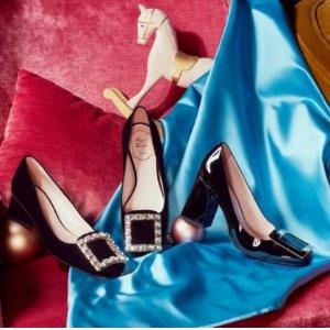 7折+包所有税费Roger Vivier  $493到手价收平底鞋 $570收高跟鞋