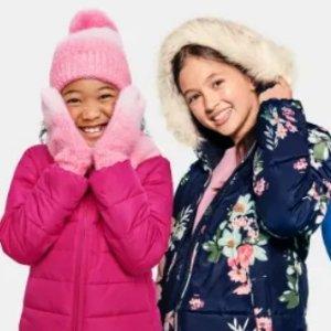 5折起+免邮 轻薄棉夹克$19.99TCP 宝贝们冬日温暖标配 粉色雪地靴$25、格子抓绒长袖$12