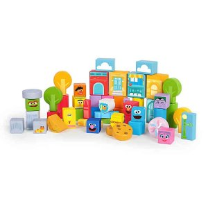 Sesame Street兒童木質益智玩具套裝