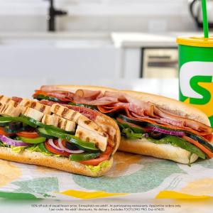 BOGO 50% OffSubway Footlong Sandwiches Limited Time Offer