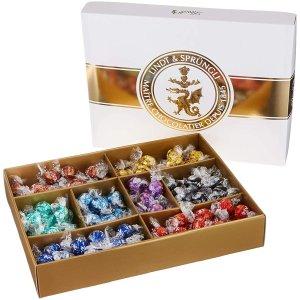 仅售€49.99Lindt Lindor 巧克力礼盒装 内含八种口味巧克力球 1.569公斤