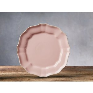 Avignon Blush Scalloped Salad Plates (Set of 4)