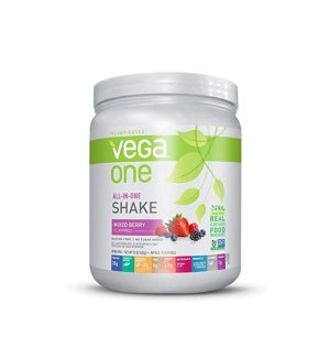 Vega One-All-In-One Plant Based Protein Powder, Mixed Berry, 0.94 lb, 10 Serving