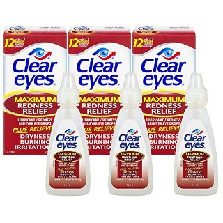 $6.84 Free ShippingClear Eyes Redness Relief Eye Drops 0.5oz Pack of 3