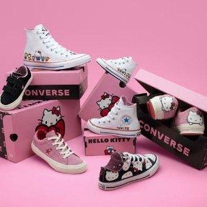 $35起 + 包邮上新:Converse x Hello Kitty 联名合作款新品登陆
