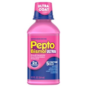 Pepto Bismol Liquid Ultra for Nausea, Heartburn, Indigestion, Upset Stomach, and Diarrhea Relief, Original Flavor, 12 oz - Walmart.com