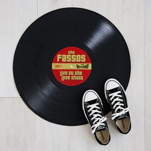 Personalized Record Doormat | personalized welcome mats | UncommonGoods