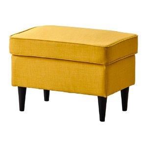 (2-2) IKEA 黃色同系列腳踏凳:STRANDMON Ottoman