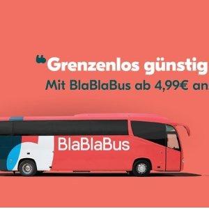 放假了赶紧出去吃喝玩乐吧德国新型大巴blablabus代金券史低6折,单程票价4.99欧起