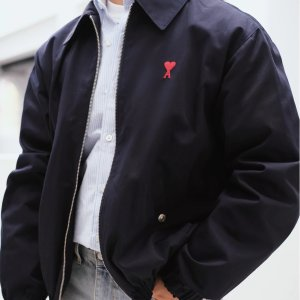 Ami7折爱心拉链夹克