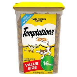 史低价:TEMPTATIONS 经典鸡肉味猫咪零食 16盎司