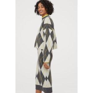 H&M晒货同款logo毛衣
