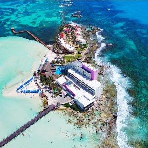 $559起 岛中岛独立酒店3晚/5晚坎昆周边女人岛 机票+全包酒店度假套餐