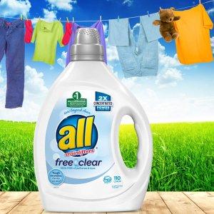额外8折Amazon all Liquid Laundry 洗衣液促销