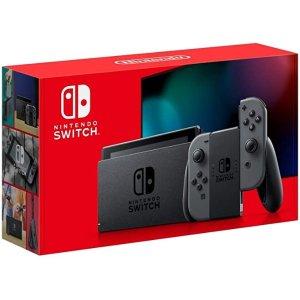NintendoSwitch 2019长续航游戏主机 灰色款