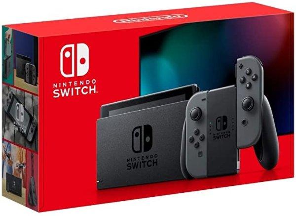 Switch 2019长续航游戏主机 灰色款