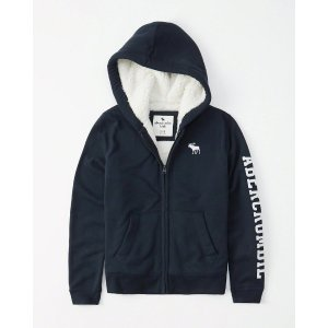 d4e52fcc0 Abercrombie & Fitchboys logo sherpa-lined hoodie | boys coats & jackets |  Abercrombie.