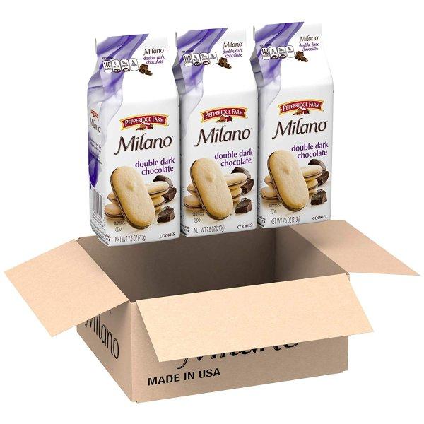 Milano 黑巧克力夹心饼干 3包