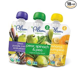 $18.01Plum Organics 宝宝有机蔬菜水果泥,18袋