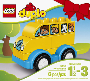 $4.95乐高LEGO  DUPLO得宝系列 我的第一辆巴士10851