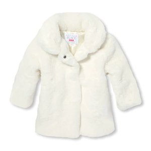ab7792062 The Children's PlaceBaby And Toddler Girls Dressy Faux Fur Jacket. $19.98  $49.95. The Children's Place Baby ...