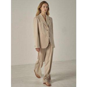 Tailored wool jacket_Light Beige