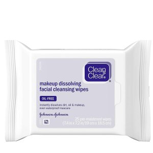 Clean & Clear Oil-Free Makeup Facial Cleansing Wipes